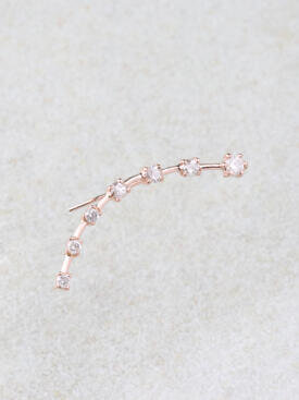 String Along the Diamond Stars Climber Earrings