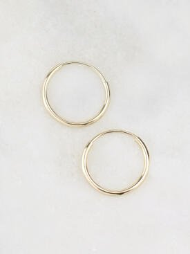 11MM Infinity Hoop Earrings