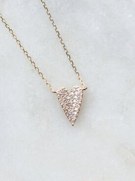A piece of my Diamond Heart Necklace