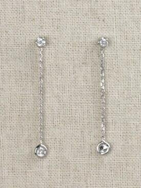 Simple and Classy Diamond Bezel Solid 14 Karat Gold Chandelier Earrings