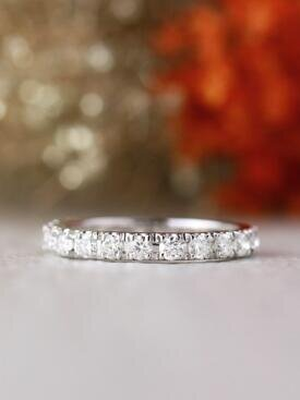 1.10CT Diamond Eternity Solid 14 Karat Gold Wedding Band