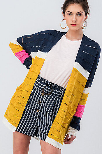 a7bd08a30 Add to Wishlist Add to Cart. 0229-8690 COLOR BLOCK SPRING SWEATER CARDIGAN