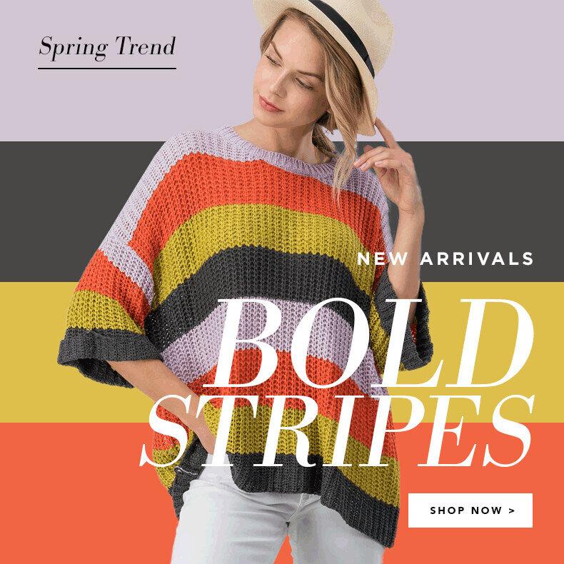 Spring Trend: Bold Stripes (New Arrivals)