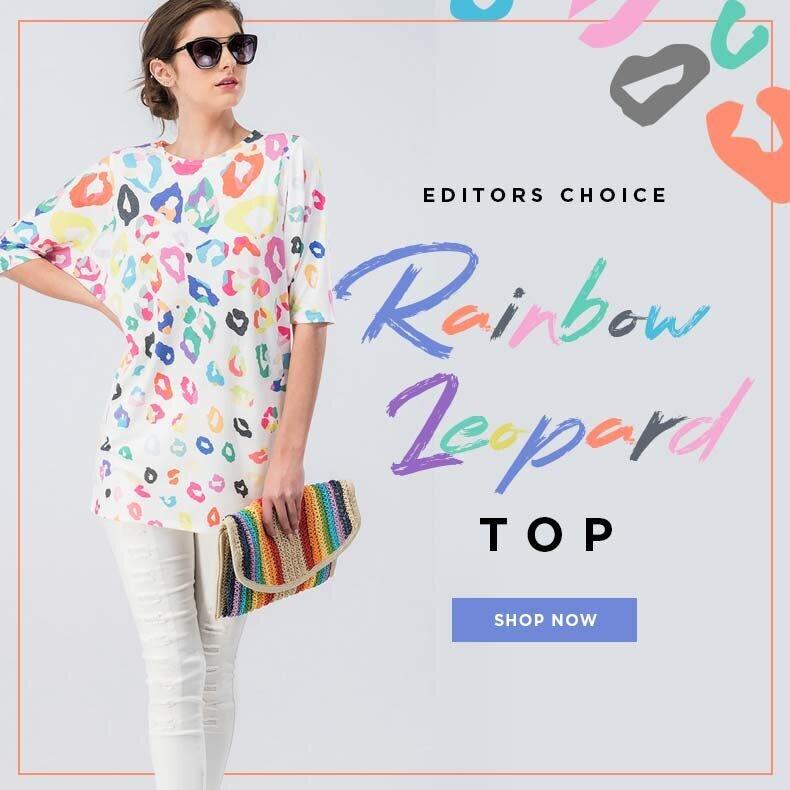 Editors Choice: Rainbow Leopard Top & More