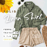 Solid Linen Shirt: Perfect Transition Style for Spring